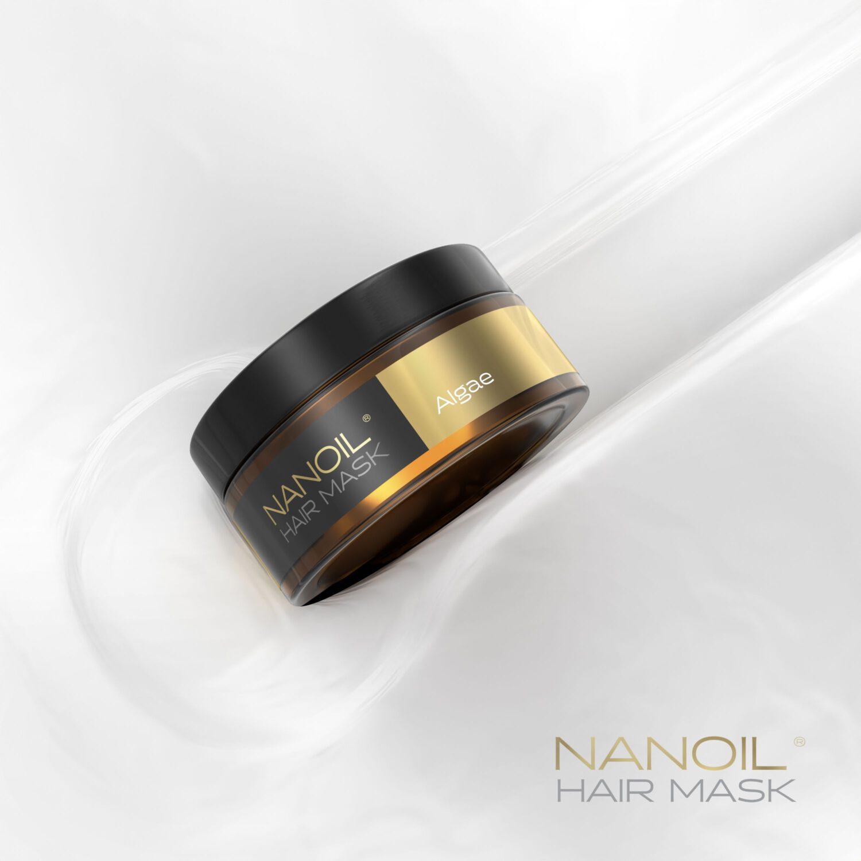 maska do włosów nanoil z algami morskimi